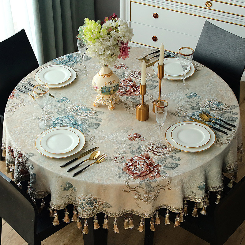 Luxury Small Large Round Tablecloth Rectangular Household Dustproof Tablecloth Ebay
