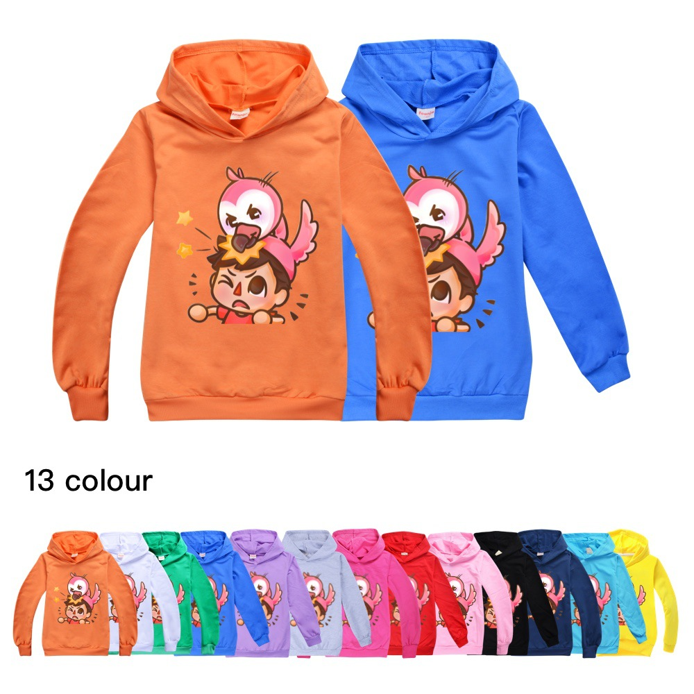 Kids Boys Sweatshirt Flamingo Flim Flam Hoodie Spring Street Sonic Hooded Trendy Fashion Girl Jacket Children Pullover Tops 1