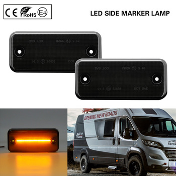 Smoke LED Side Marker Light lamp for RENAULT VOLVO FL/FE IRISBUS HEULIEZ DAF Fiat Ducato IVECO Daily Citroen Relay Peugeot Boxer autoutlet ignition steering barrel lock switch 7 pins for peugeot boxer citroen relay fiat ducato 02 06 1329316080