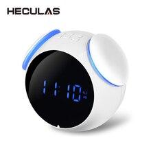 HECULAS Bluetooth 4,2 радио цифровой будильник Handfree звонки динамик Поддержка TF карты воспроизведения Aux вход