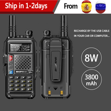 2020 BAOFENG BF UVB3 PLUS 8W potężny UHF/VHF dwuzakresowy 25KM daleki zasięg Walkie Talkie 3800mAh bateria ręczne Radio uv 5r uv5r
