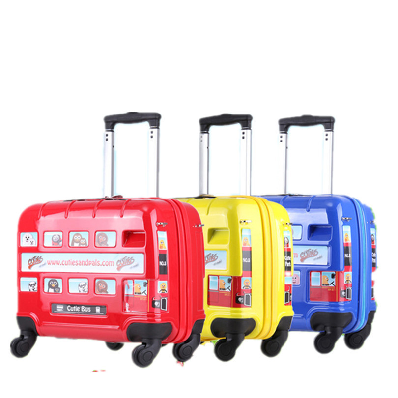 16-Inch CHILDREN'S Trolley Case London Bus Car Universal Wheel CHILDREN'S Suitcase Manufacturers A Generation Of Fat Luggage