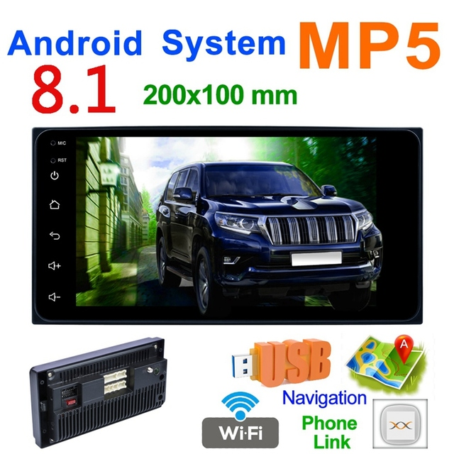 New 2 Din Car Radio 7 Inch Car Mp5 Multimedia Player Android 8.0 Car Radio Gps Navigation Wifi Bluetooth for Toyota