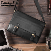 Cobbler Legend Genuine Leather Men Bag Casual Business Man Shoulder Crossbody Bags Cowhide Large Capacity Travel Messenger Bags