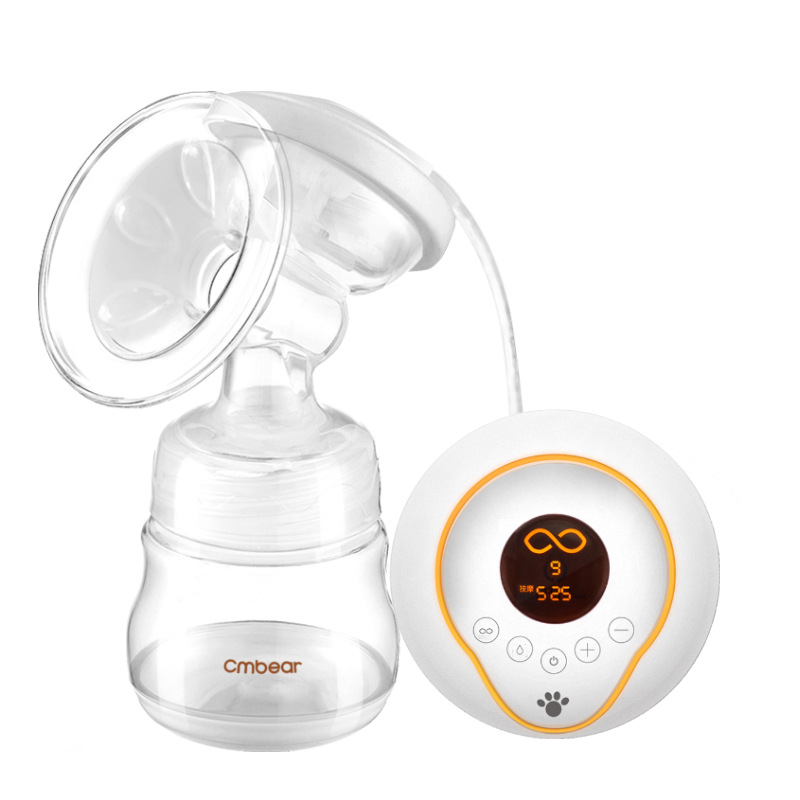 Mother And Baby Supplies Electric Breast Pump Massage Breast Pump LCD Display Nine Files With Lithium Battery