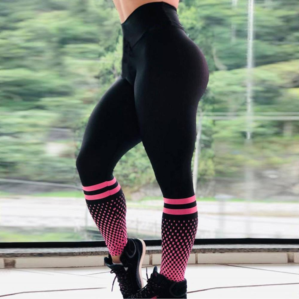 2019 Sexy Leggings Womens High Waisted Plaid Pants Women Pink Jogger Winter Leggings Rave Push Up High Waisted Thermal Leggings