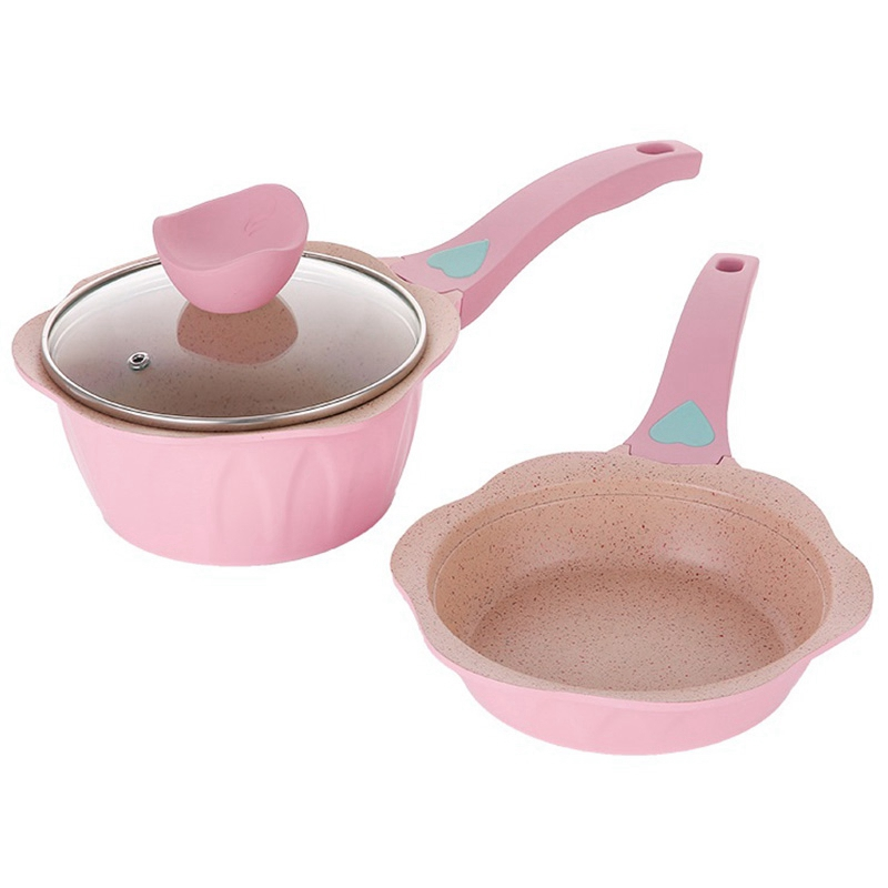 ABUI-Newest Baby Food Supplement Pot Flat Bottom Non-Stick Frying Pan Medical Stone Small Milk Pot Stock Pot Household Cooking P