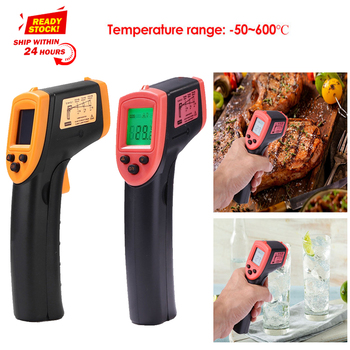 HW600 Digital Infrared Thermometer Laser Temperature Meter Non-contact Pyrometer Imager Hygrometer IR Thermometer#1 сигнал t34 черный
