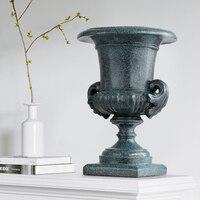 Roman column Flowers topf Vase resin decoration house tabletop for wedding garden large floor vase desk decoration vase
