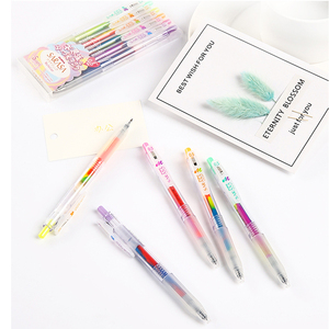 Image 2 - ZEBRA stationery gel pen kawaii pen quick drying press color hand account 0.5 gradient dream color drawing painting pen JJ75