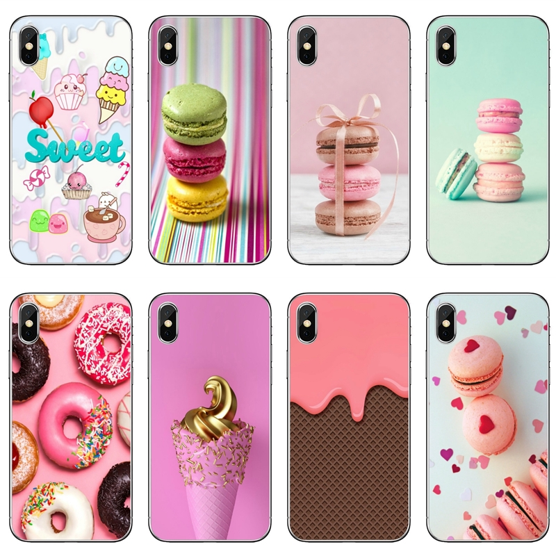 For Huawei Honor 10 9 Lite 8C 8X 7C 7X 7A V10 V8 Y9 Y7 Y6 prime pro 2018 2019 cover case Pink Dessert Ice Cream Macarons Cake