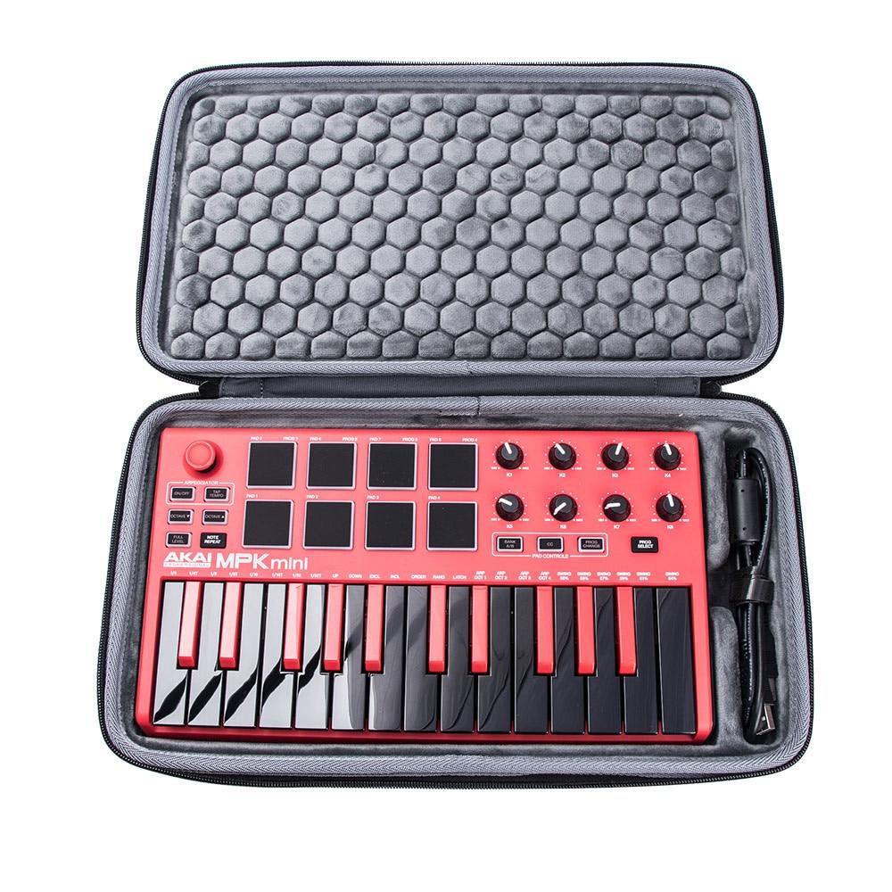 2020 Newest EVA PU Explosion-proof Hard Carrying Case For AKAI MPK Mini PLAY MK2 Keyboard Controller