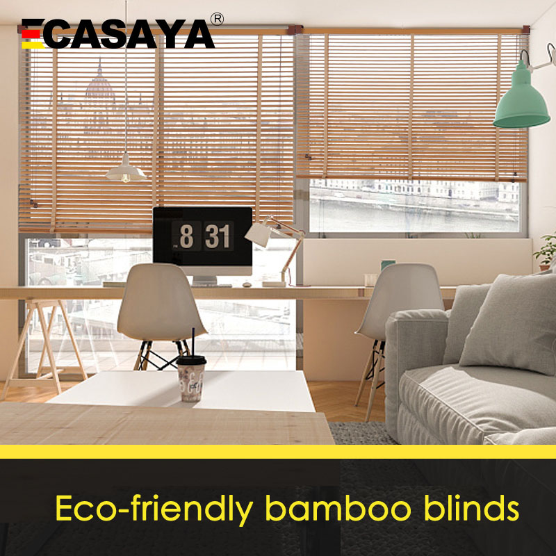 Image 3 - 50mm Bamboo Blinds Ladder type venetian blinds eco frienly Natural Material window Bamboo blinds for home Living room Tea houseBlinds, Shades & Shutters   -