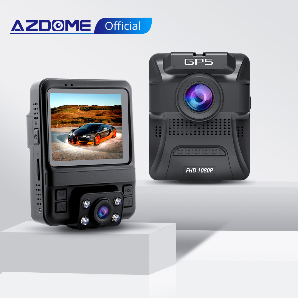 AZDOME Original Car DVR GS65H Mini Dual Lens Dash Cam without GPS Full HD 1080P Car Camera Night Vision For <font><b>Uber</b></font> Lyft Taxi image