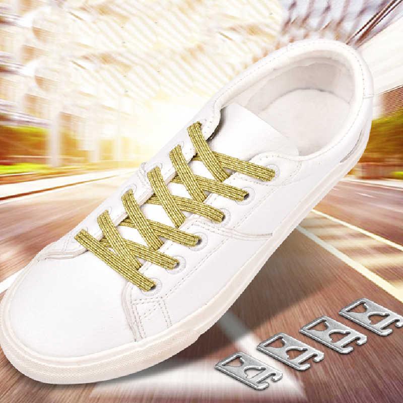 אבזם שרוכי זהב כסף Pearlescent צבעוני סוכריות למתוח עצלן גברים נשים נעלי תחרה עבור סניקרס נעלי בד