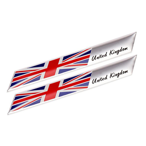 2pcs United Kingdom Union Jack Flag Emblem Trunk Sticker Decal For Aston Martin JAGUAR MINI COOPER LAND ROVER(China)