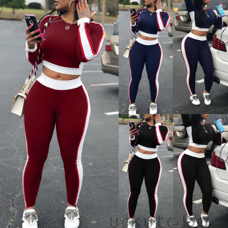 Women Sets Women Red Blue Black 2 Pcs Sweatsuit Cotton Summer Pullover Suits Women Outfit Two Piece Tracksuits