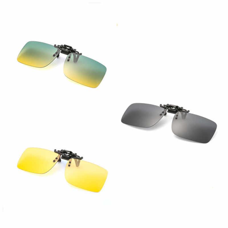 1PC Unisex Occhiali Da Pesca Clip Su Occhiali Da Sole Stile UV400 POLARIZZATI Occhiali Da Pesca Tempo di Giorno/Notte occhiali di Protezione del Driver