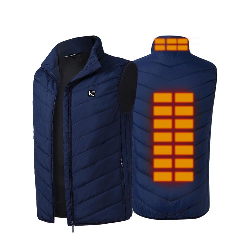 Graphene Electric Warm Vest USB Intelligent Constant Temperature Heating Vest For Outdoor Sports Fishing Electric Heating Vest