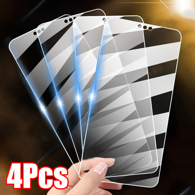 4Pcs Full Cover Protective Glass For Huawei P20 P30 P40 Lite Screen Protector For Huawei Mate 20 30 Lite P Smart Z 2021 Glass
