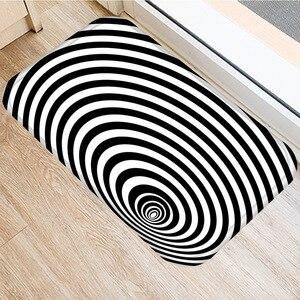 Image 4 - 40 * 60cm Visual Error Geometric Non slip Suede Carpet Door Mat Kitchen Living Room Floor Mat Home Bedroom Decorative Floor Mat.