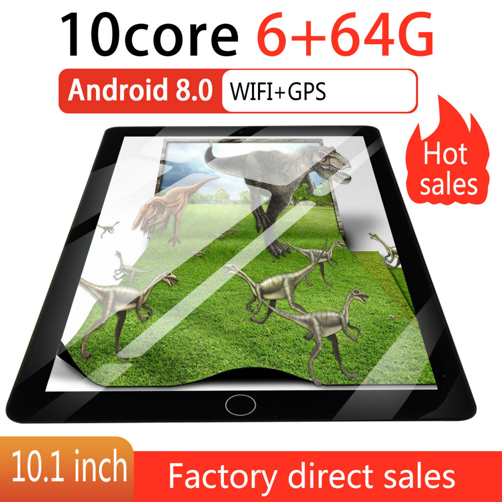 2019 2.5 D Screen Metal 10 Inch Android 8.0 Tablet PC Octa Core Dual Camera 2.0MP/5.0MP RAM 8GB+ROM 64G/16G WiFi