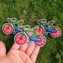ZOTOONE Bicycle Iron Patches for Clothing Embroidered DIY Sew Stripe On Patch Cute Cycling Bike Clothes Bag TShirt Badge Sticker