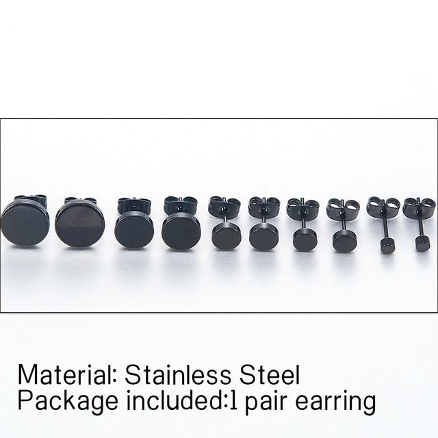 Fashion Women Men Black Round Stainless Steel Simple Ear Studs Earrings 5 Size Punk Earring Jewelry.jpg 640x640 - Fashion Women Men Black Round Stainless Steel Simple Ear Studs Earrings 5 Size Punk Earring Jewelry