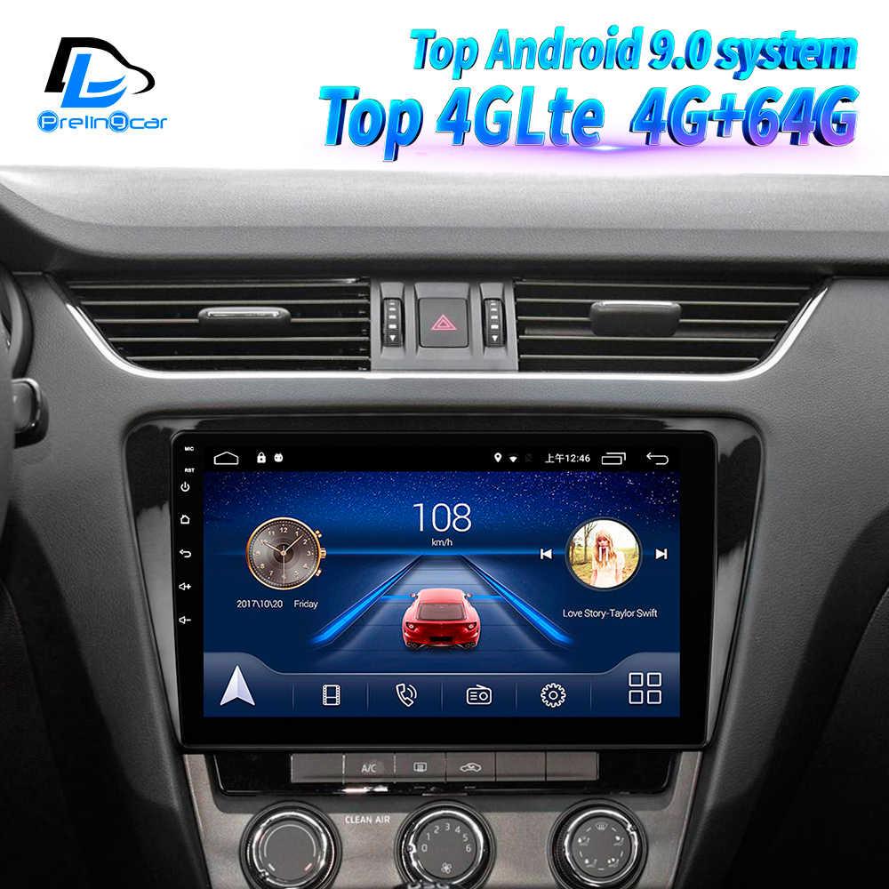 Prelingcar para Skoda Octavia 3 A7 2013 2014 2015 años Radio de coche reproductor de vídeo Multimedia navegación GPS Android 9,0 tablero DSP