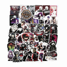 50 pçs/lote clássico anime tóquio ghoul adesivos figura dos desenhos animados graffiti decoração para computador portátil skate adesivo