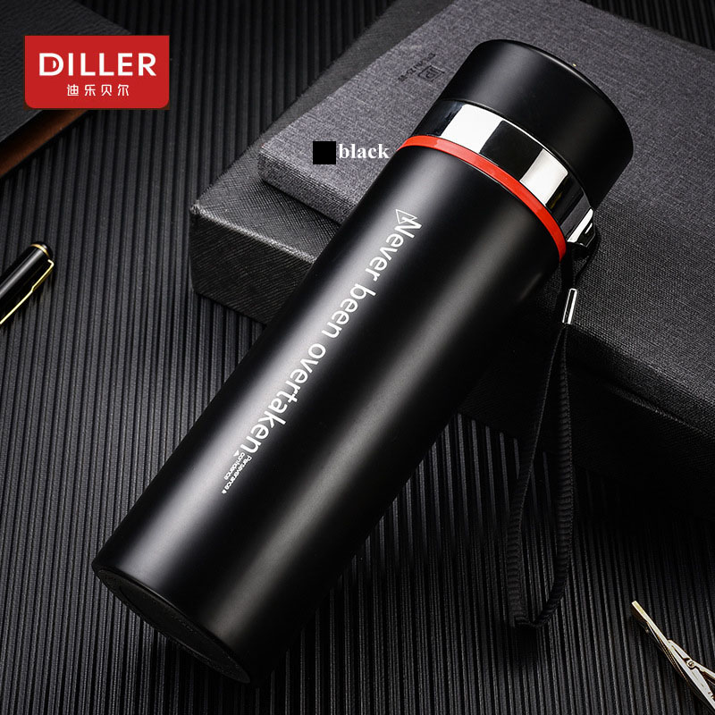 DILLER MLH8715 Thermos Double Wall 304L Stainless Steel Vacuum Flasks Thermos Cup Coffee Tea Milk Travel Mug Water Bottle