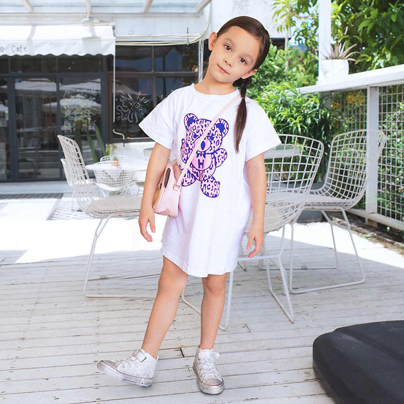 Vestito Dalla ragazza Manica Lunga Vestiti Del Capretto Del Cotone Vestiti di Estate Della Principessa del Partito Del Vestito Dal Tutu Vestiti Del Bambino Rosso Blu Infantile Vestiti Del Bambino
