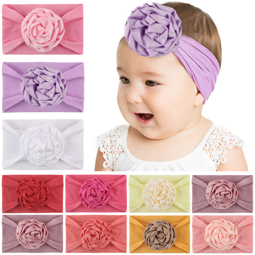 2019 Brand New Newborn Toddler Baby Girls Head Wrap Flowers Big Bow Knot Turban Headband Hair Accessories Baby Gifts For 0-2Y