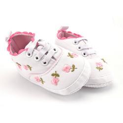 Обувь с цветочным рисунком для маленьких девочек; весенне-Осенняя обувь принцессы; обувь для первых ходунков; мягкая подошва для малышей;