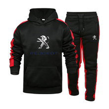2021 New Men's Hoodie Suit Sign Logo Fashion Stitching Autumn Winter Casual Street Sportswear Track Suit Asian Size S 3XL