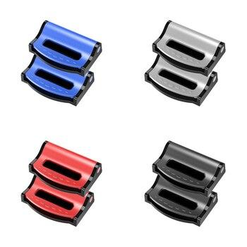 Accesorios de coche nuevo fijador de cinturón de seguridad Universal para todos los cinturones de seguridad de 53mm de ancho azul plata Rojo Negro duradero