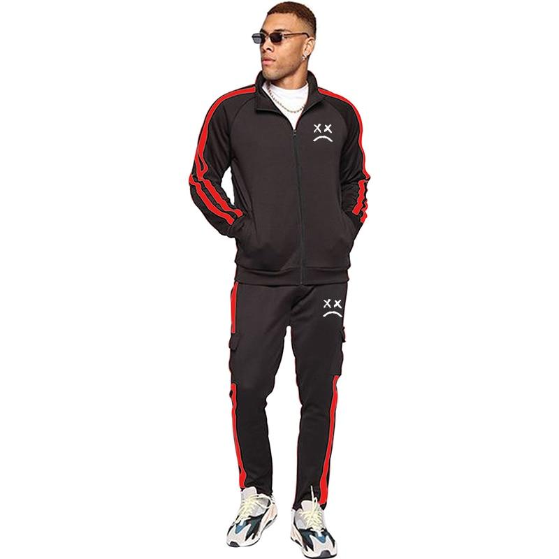 Brand Tracksuit Men Two Piece Clothing Sets Casual Jacket+Pants 2PCS male`s Track Suit Sportswear Sweatsuits men Walking hoodies