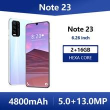SOYES Note 23 Global Version Mobile Phone 6.26 Inch Hexa Core Smartphone 4800mAh 2GB RAM 16GB ROM Full Screen 5+13MP Cell Phones