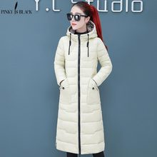 PinkyIsBlack New Snow Two Sides Wear Long Warm Thicken Winter Jacket Women Hooded Cotton Padded Outerwear For Women Winter Coat