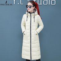 PinkyIsBlack New Snow Two Sides Wear Long Warm Thicken Winter Jacket Women Hooded Cotton Padded Outerwear For Women Winter Coat