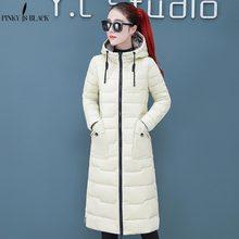 PinkyIsBlack חדש שלג שני הצדדים ללבוש ארוך חם לעבות חורף מעיל נשים סלעית כותנה מרופד הלבשה עליונה לנשים חורף מעיל