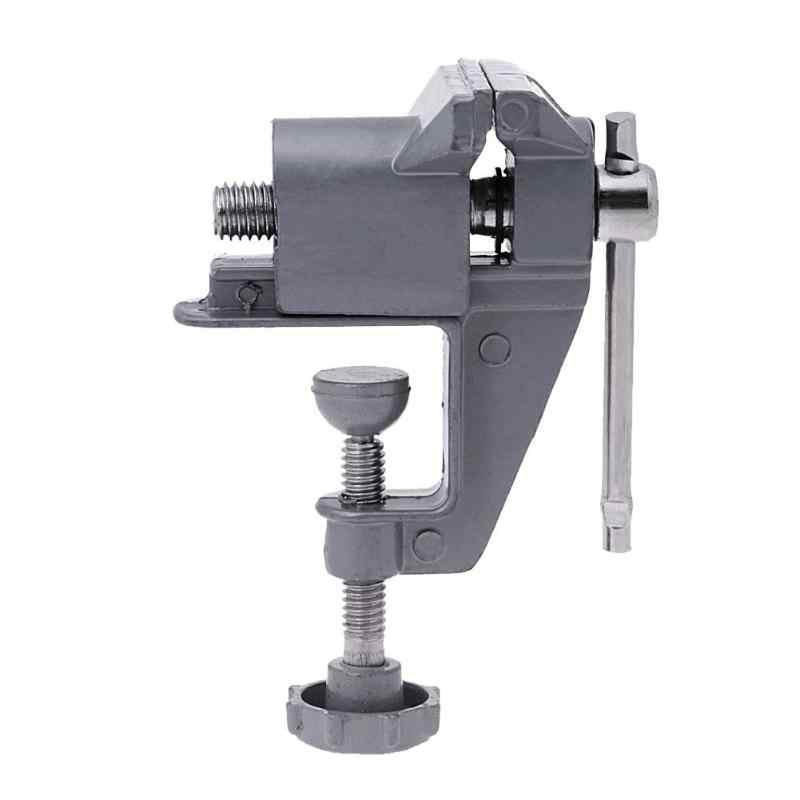30mm mini universal bancada vice mesa braçadeira parafuso torno para diy artesanato broca elétrica ferramenta de reparo fixo família fábrica peças pequenas