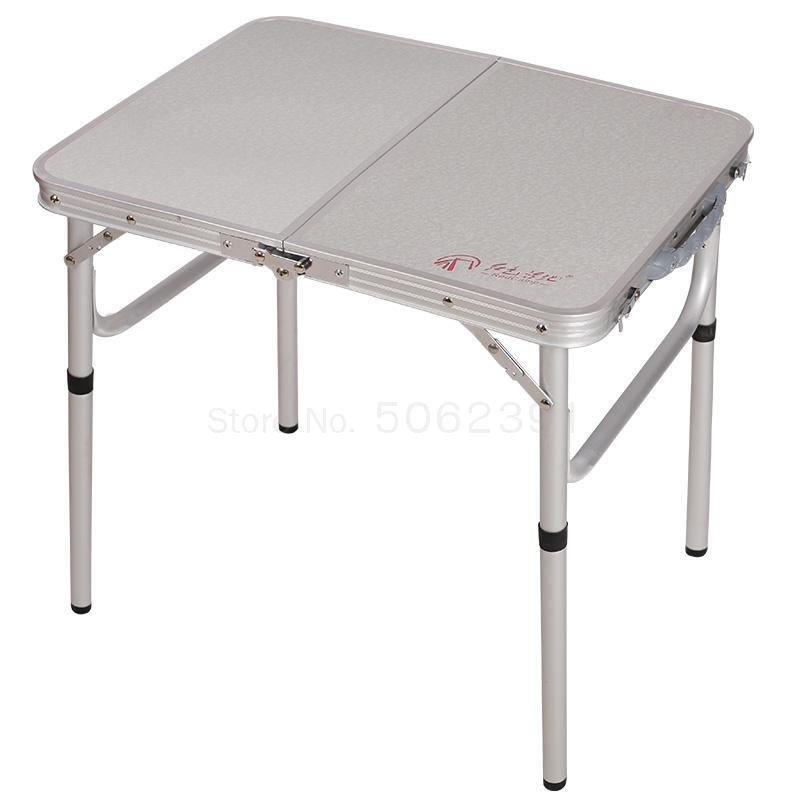 petite table pliante d exterieur en alliage d aluminium portable haute et basse a deux ports simple table de pique nique