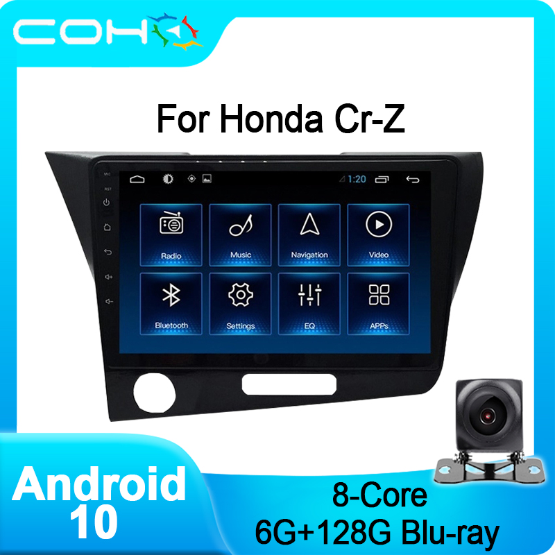 COHO For Honda CrZ Cr-z Android 10.0 Octa Core 6+128G stereo Autoradio Car Multimedia Player image