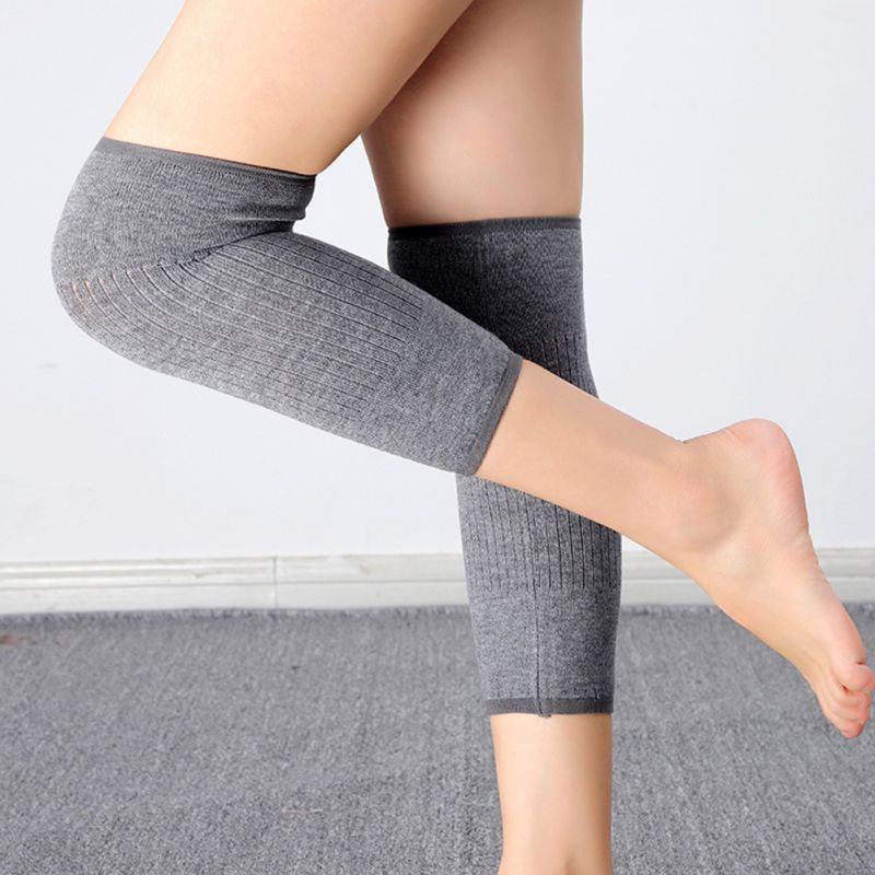 Knee Support Protector Leg Arthritis Injury Gym Sleeve Elasticated Bandage Knee Pad Charcoal Knitted Kneepads Warm
