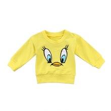 Cute Toddler Kids Baby Girls Boys Cartoon Long Sleeve Top T-shirt Sweatshirts Clothes