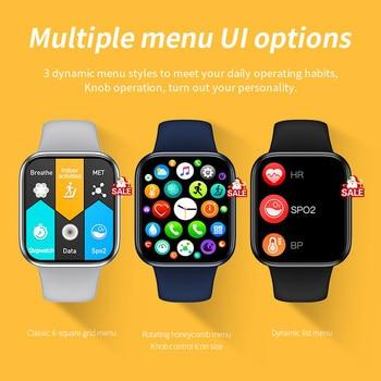Original HW16 44mm Smart Watch Series6 Men 320*385 Screen Custom Picture Smartwatch Women BluetoothCall 2021 pk FK88 IWO13 W46 3