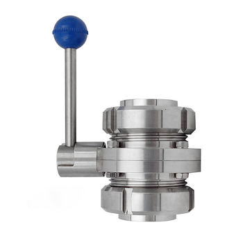 Butterfly Valve Set with S-type Male Thread Stainless Steel SS304 Sanitary Butterfly Valve Set Manual Butterfly Valve фото