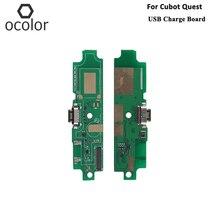 Ocolor cubotクエストusb充電ボードアセンブリの修理部品クエストusbボード携帯電話アクセサリー在庫あり