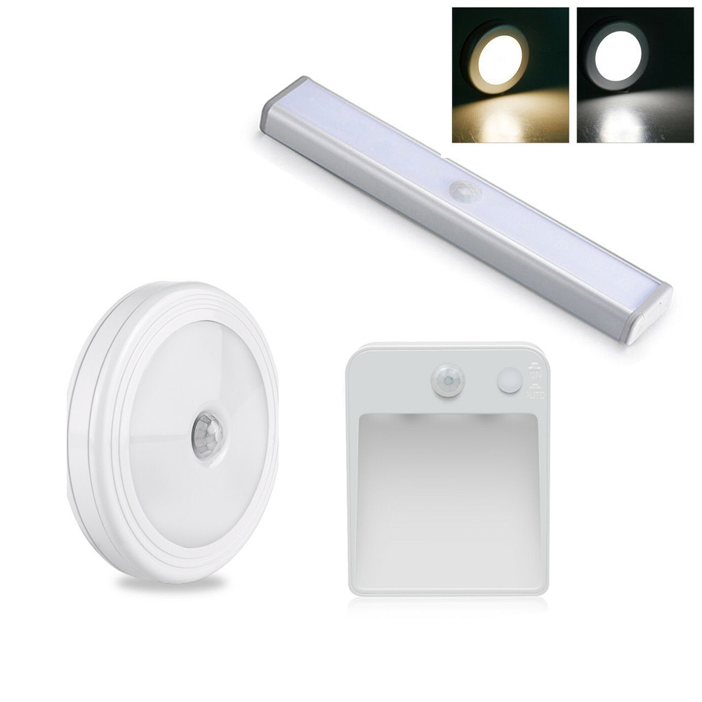 10 LEDs Wireless PIR Auto Motion Sensor Infrared Night Light Cabinet Stair Lamp